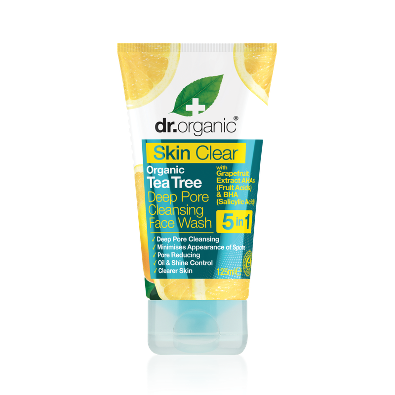 Skin Clear Organic Tea Tree Deep Pore Cleansing Face Wash