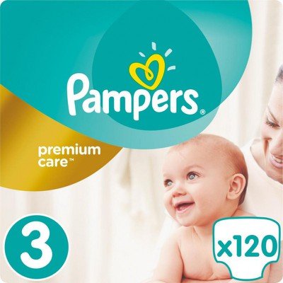 (STOP)Pampers - Premium Care Mega Pack No3 Midi (5-9 kg) Βρεφικές Πάνες - 120 τεμάχια