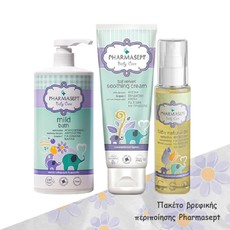 Pharmasept Πακέτο Tol Velvet Baby Mild Bath 2in1 1lt  & Tol Velvet Baby Soothing Cream 150ml  & Baby Care Baby Natural Oil 100ml. Πακέτο βρεφικής περιποίησης με προϊόντα Pharmasept.