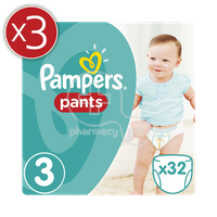 PAMPERS - Pants 3x32 No3 (6-11kg) - 96 πάνες