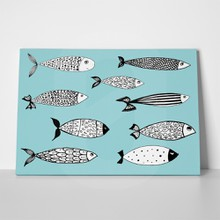 Stylized fishes design 396416335 a