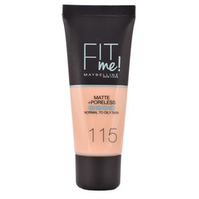 MAYBELINNE FIT ME MATTE & PORELESS FOUNDATION 115 IVORY 30ML