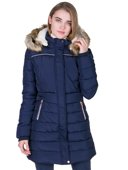 Jacket with dispatchable hood and fur