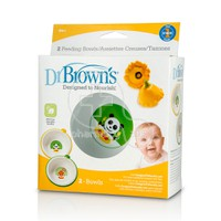 DR BROWN'S - Feeding Bowls 2 Μπωλ φαγητού 6m+ 730