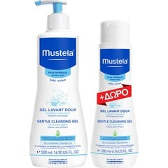 Mustela Gentle Cleansing Gel 500ml & Gentle Cleansing Gel 200ml
