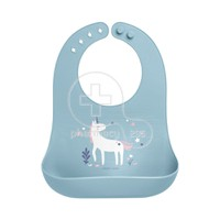 STEPHEN JOSEPH - SAFE AND SOUND Silicone Baby Bib 0m+ (Unicorn)