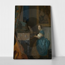 Lady seated at a virginal  vermeer1