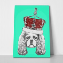 Portrait cavalier king charles spaniel crown 330364556 a