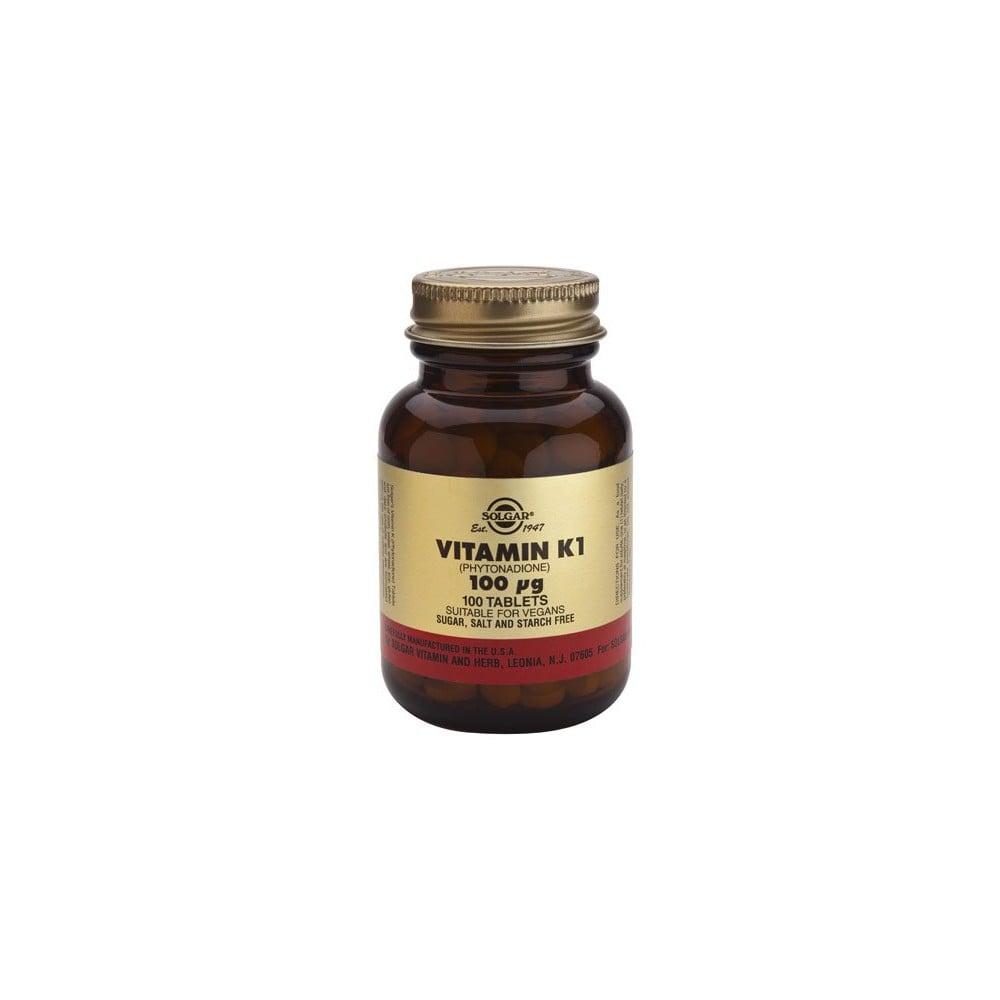Solgar Vitamin Κ1 100μg 100tablets