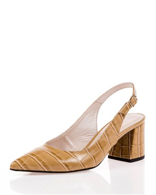 Δερμάτινη γόβα slingback - absolute Bournazos