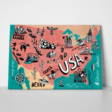 Illustrated map usa 316238168 a