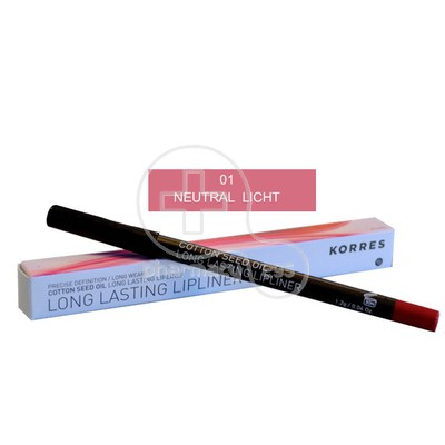 KORRES - COTTON SEED OIL Long Lasting Lipliner 01 Neutral Light - 1,2gr