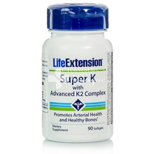 Life Extension SUPER K with Advanced K2 - Οστά, 90softgels