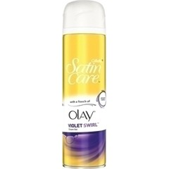 Gillette Satin Care Violet Swirl With A Touch Of Olay - Γυναικείο Gel Ξυρίσματος, 200ml
