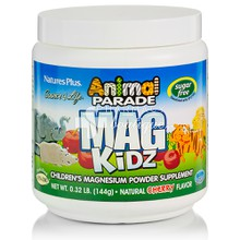 Natures Plus Animal Parade Mag Kidz Powder Cherry Flavor - Μαγνήσιο σε σκόνη για παιδιά, 144gr