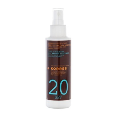 Clear sunscreen body walnut   coconut spf20  150ml