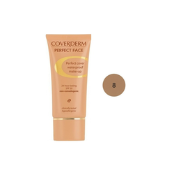 Coverderm Perfect Face SPF20 No 8 Αδιάβροχο Κρεμώδες Make Up 30ml