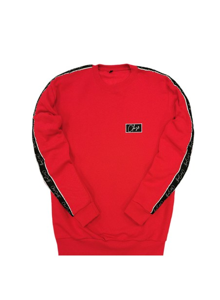 CLVSE SOCIETY RED TAPED CREW NECK