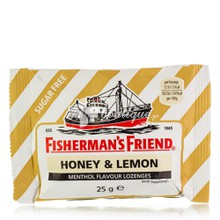 Fisherman's Friend Honey & Lemon (Χωρίς Ζάχαρη), 25gr
