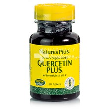 Natures Plus QUERCETIN PLUS with Vit C & Bromelain, 60 tabs