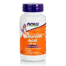 Now Hyaluronic Acid with MSM - Υαλουρονικό, 60 veg caps