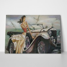 Retro car lady 646835734 a
