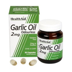 Health Aid Garlic Oil 2mg Odourless Vegetarian 30Caps