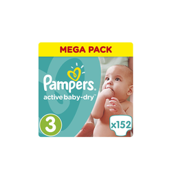 Pampers Mega Pack Active Baby-Dry Μέγεθος No.3 (5-9Kg) 152 Πάνες