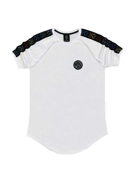 VINYL ART CLOTHING WHITE COLORED LOGO TAPE T-SHIRT