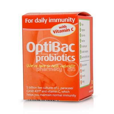 OPTIBAC - PROBIOTICS for Daily Immunity - 30caps