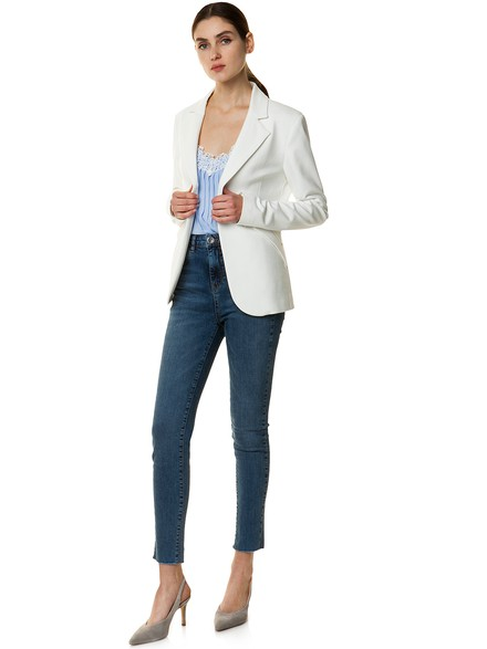 Blazer in knit fabric