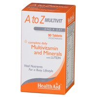 HEALTH AID A TO Z MULTIVITAMIN & MINERALS & LUTEIN 90TABL