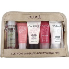 Caudalie Beauty Grows Here Summer Kit (Micellar Cleansing Water 30ml & Vinosource Moisturizing Sorbet 10ml & Gentle Conditioning Shampoo 30ml & Rose de Vigne Shower Gel 30ml & Nourishing Body Lotion 30ml)