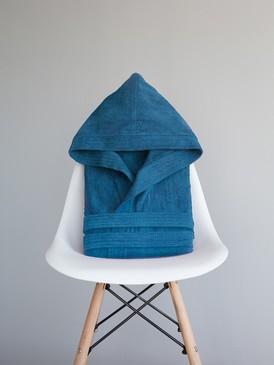 c86fbbdde95a Μπουρνούζι με κουκούλα Zen - Ionian Blue