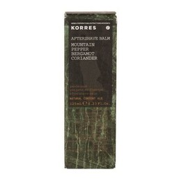 Korres Aftershave Balm Mountain Pepper - Bergamot - Coriander, 125 ml