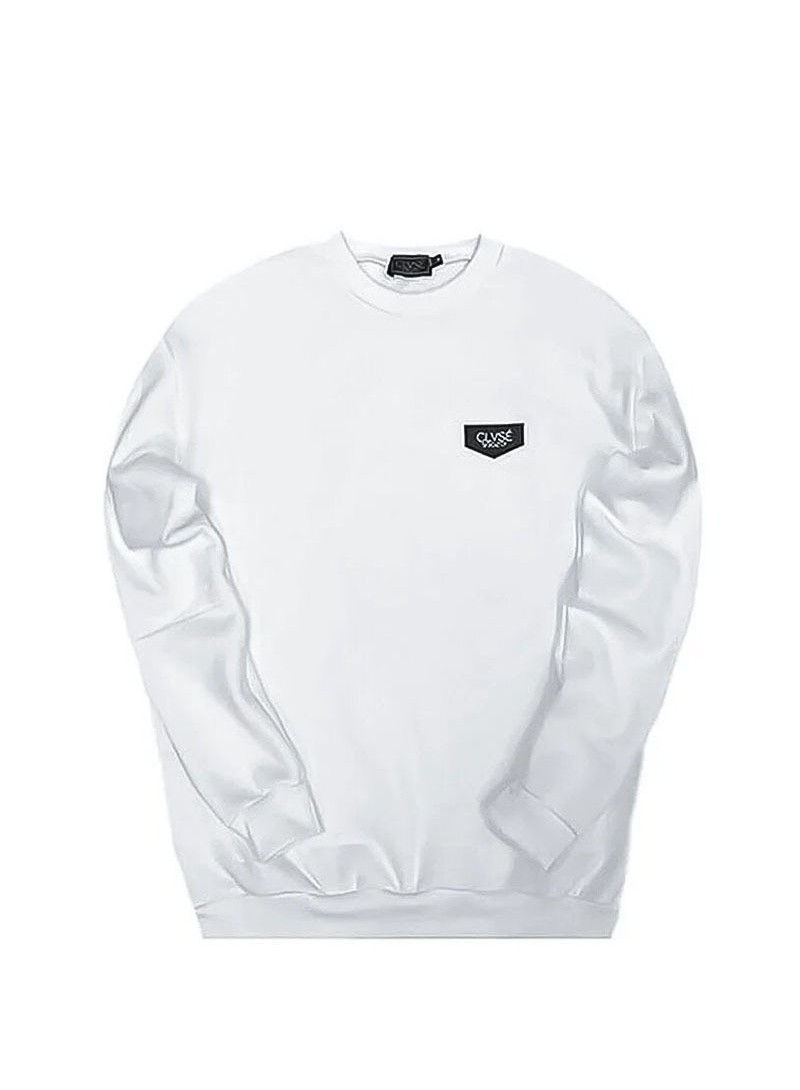 CLVSE SOCIETY WHITE BLACK PATCH SWEATSHIRT