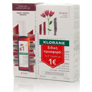 Klorane quinine shampoo 200ml cure de force tri active serum 100ml huge enlarge
