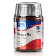 Quest Synergistic ZINC 15mg (& Copper), 90 tabs