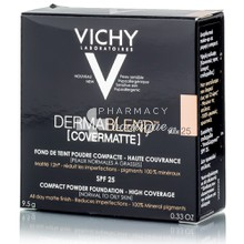 Vichy Dermablend FDT Compact Powder (25 Nude) SPF25 (PNM), 9.5gr