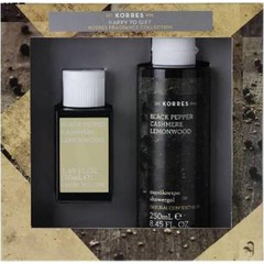 Korres Promo  Black Pepper Cashmere Lemonwood Eau De Toilette - Ανδρικό Άρωμα, 50ml & Showergel - Αφρόλουτρο, 250ml
