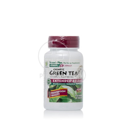 NATURE'S PLUS - HERBAL ACTIVES Chinese Green Tea 750mg - 30tabs