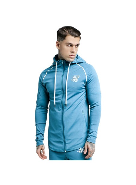 SikSilk Zonal Zip Through Track Top – Teal