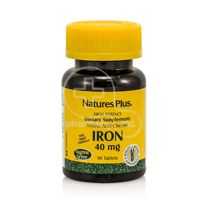 NATURE'S PLUS - Iron 40mg - 90tabs