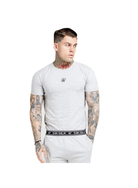 SikSilk Lounge Tee - Light Grey