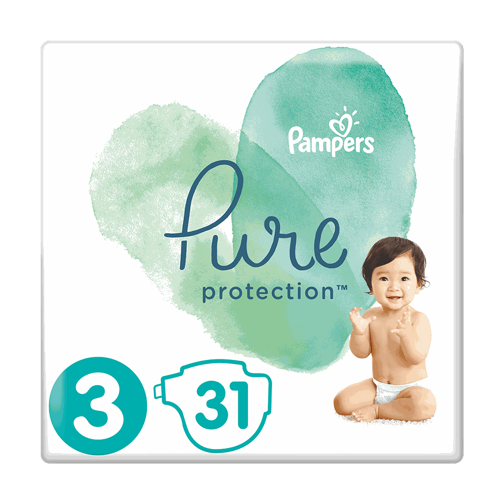178905 pampers   pure protection no3  6 10kg    31      8001090834843