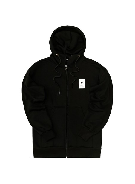 TONY COUPER BLACK CLASSIC ZIP THROUGH HOODIE