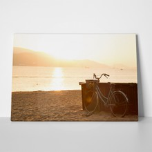 Bicycle on sandy beach 373660561 a