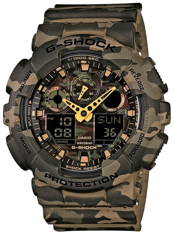 G-SHOCK Green Camouflage Rubber Strap
