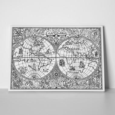 Rectangular canvas print black white vintage world map dec0 black white vintage world map 500731063 a gumiabroncs Images