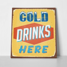 Retro sign cold drink a